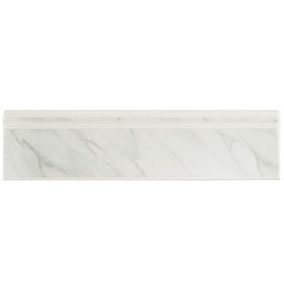 12.38 x 3.25 Base Molding in White Marble
