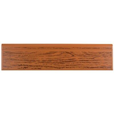 12.38 x 3.25 Base Molding in Satin Oak Wood