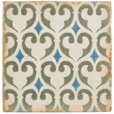 Arquivo 4.875 X 4.875 Ceramic Field Tile in Green/Blue