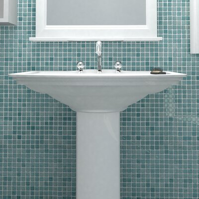 Colgadilla Square 0.88 x 0.88 Glass Mosaic Tile in Niebla Azul