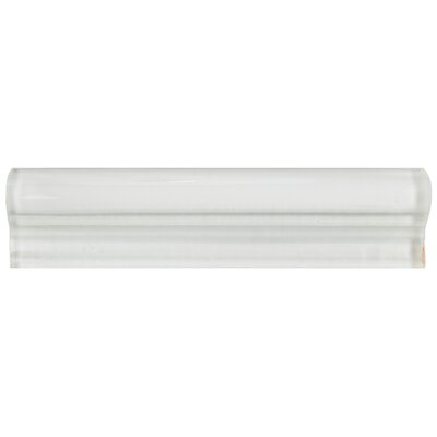 Sierra 1.88 x 7.88 Glass Chair Rail Tile in White
