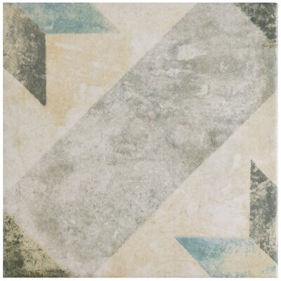 Herculanea 9.75 x 9.75 Porcelain Field Tile in Blue/Beige