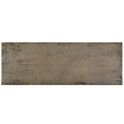 Rama 8.25 x 23.5 Porcelain Wood Look/Field Tile in Brown