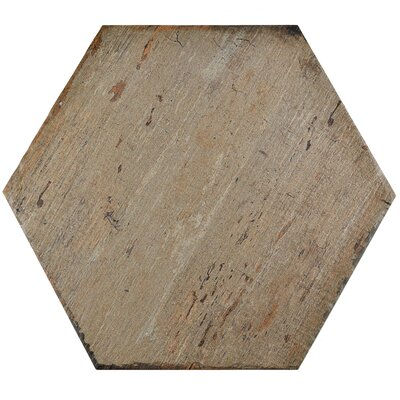 Rama Hexagon 14.13 x 16.25 Porcelain Mosaic Tile in Brown