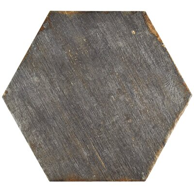 Rama Hexagon 14.13 x 16.25 Porcelain Mosaic Tile in Gray