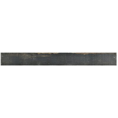 Rama 2.75 x 23.5 Porcelain Wood Look/Field Tile in Black