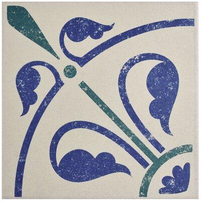 Cementa 7 x 7 Porcelain Field Tile in Blue/Green