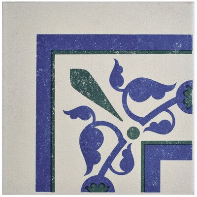 Cementa 7 x 7 Porcelain Field Tile in Blue/Green
