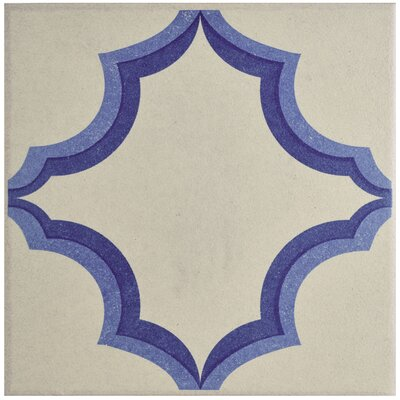 Cementa 7 x 7 Porcelain Field Tile in Blue/White