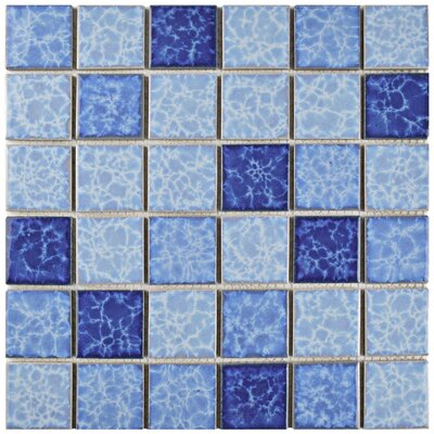 Pool 2 x 2 Porcelain Mosaic Tile in Aegean