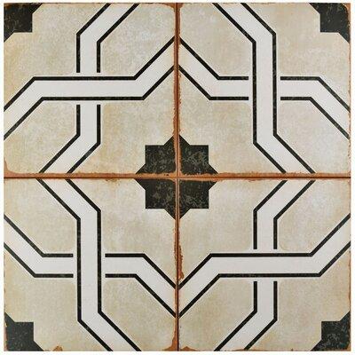 Iberia 17.63 x 17.63 Ceramic Field Tile in Beige/Black