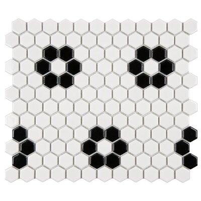Retro Hexagon 0.875 x 0.875 Porcelain Mosaic Tile