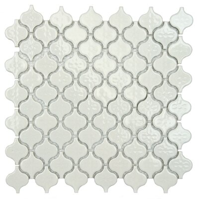 Beacon 1.375 x 1.5 Porcelain Mosaic Tile in Glossy White