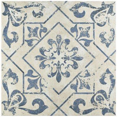 Lotus 17.75 x 17.75 Ceramic Field Tile in Blue