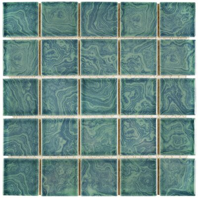 Utopia 2 x 2 Porcelain Mosaic Tile in Green