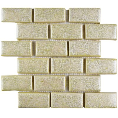 Greenwich Subway 1.75 x 4 Ceramic Mosaic Tile in Beige