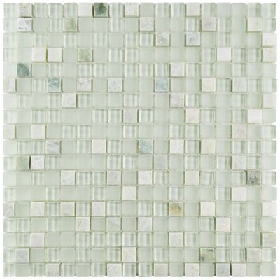 Sierra 0.58 x 0.58 Glass and Natural Stone Mosaic Tile in Ming