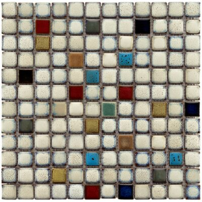 Essentia 12 x 12 Porcelain Mosaic Tile in Glazed Cascade