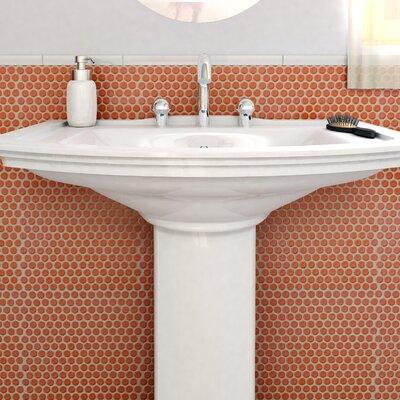 Penny 0.8 x 0.8 Porcelain Mosaic Tile in Vermilion