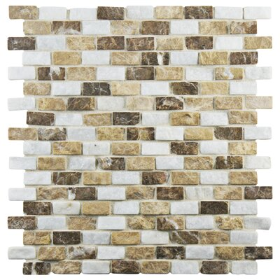 Grizelda 0.5 x 1.25 Natural Stone Mosaic Tile in Sand