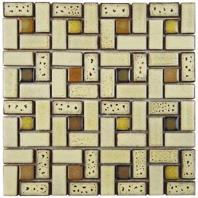 Essentia 12 x 12 Porcelain Mosaic Tile in Sierra