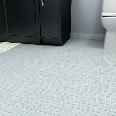 Academy Random Sized Porcelain Mosaic Tile in Blue