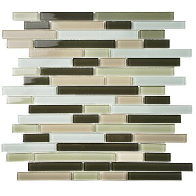 Ambit Random Sized Glass Mosaic Tile in Chapparal