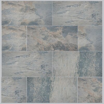 Arriba 12.5 x 24.5 Porcelain Field Tile in Gray