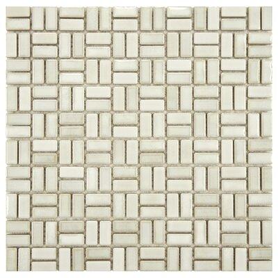 Arcadia Weave 0.5 x 1 Porcelain Mosaic Tile in Glacier