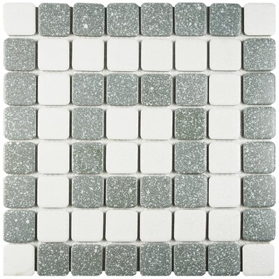 Minerva 1.3 x 1.3 Porcelain Mosaic Tile in Gray