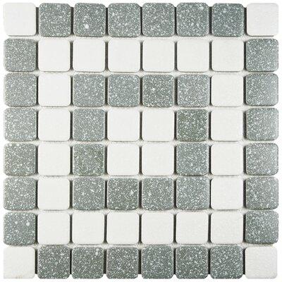 Minerva 1.3 x 1.3 Porcelain Mosaic Tile in Gray