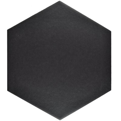 Tessile 8.63 x 9.88 Porcelain Mosaic Tile in Black