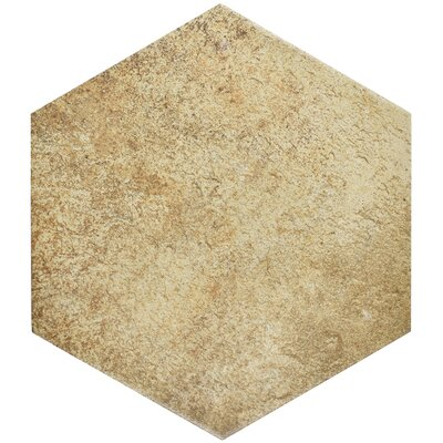 Morales 8.63 x 9.88 Porcelain Mosaic Tile in Brown/Beige