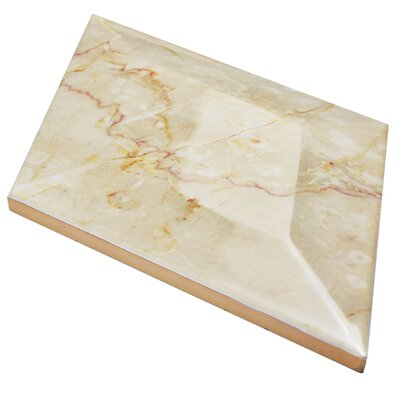 Floriano 6.75 x 11.75 Ceramic Mosaic Tile in Glossy Beige