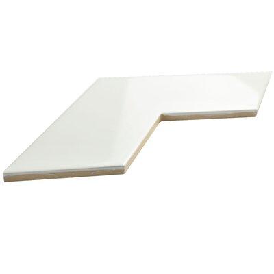 Rebotar 3.38 x 11.75 Ceramic Mosaic Tile in Glossy White