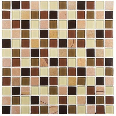 Chroma 0.875 x 0.875 Glass and Natural Stone Mosaic Tile in Kalamata
