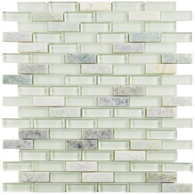 Sierra 0.58 x 1.88 Glass and Natural Stone Mosaic Tile in Ming