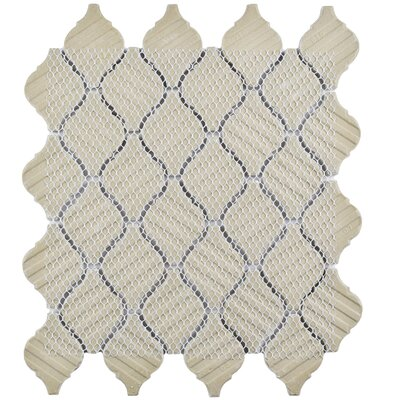 Arabesque 1.87 x 2.75 Porcelain Mosaic Tile in Aella