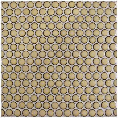 Penny 0.8 x 0.8 Porcelain Mosaic Tile in Caf�