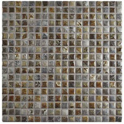 Arcadia 0.56 x 0.56 Porcelain Mosaic Tile in Noce Slate