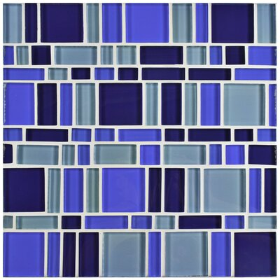 Sierra Random Sized Glass Mosaic Tile in Magic Celeste