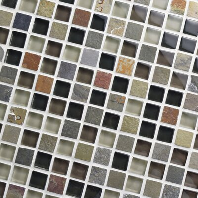 Sierra 0.58 x 0.58 Glass and Natural Stone Mosaic Tile in Stonehenge