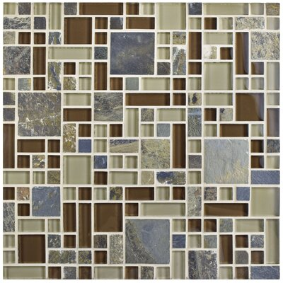Sierra Random Sized Glass/Stone Mosaic Tile in Versailles Brixton