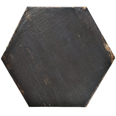 Rama Hexagon 14.13 x 16.25 Porcelain Mosaic Tile in Black
