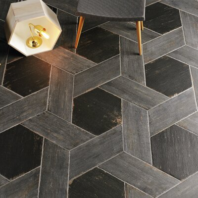 Rama 7.13 x 16.68 Porcelain Wood Look Floor and Wall Tile in Cendra