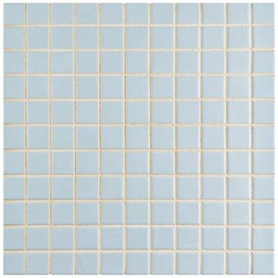Retro 1 x 1 Porcelain Mosaic Tile in Matte Light