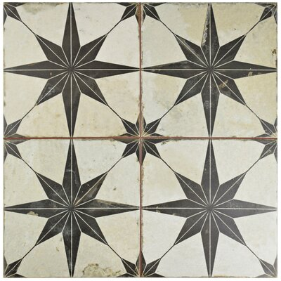 Royalty 17.63 x 17.63 Ceramic Field Tile in Beige/Gray
