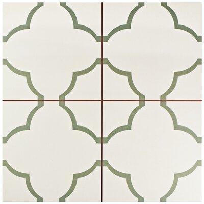 Cumulus 17.63 x 17.63 Ceramic Field Tile in Cream/Olive