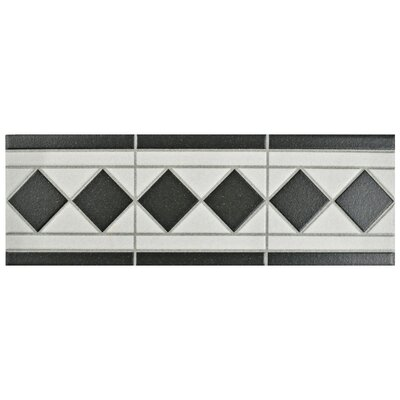 Narcisso 13 x 4.25 Porcelain Listello Trim Tile in Black