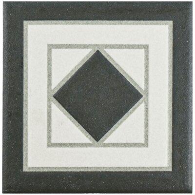 Narcisso 4.25 x 4.25 Porcelain Tile Trim in Black